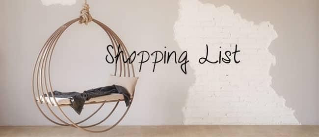 décoration-maison-appartement-liste-de-shopping